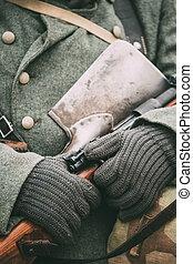 munición, alemán, soldado, mundo, militar, ii., guerra