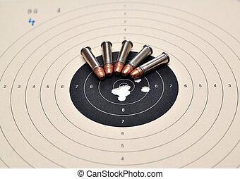 munición, blanco