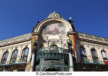 Municipal House, Obecni dum, is a civic building and concert hall in Prague, Czech Republic
