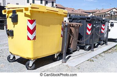 Municipal rubbish - municipal rubbish collector for paper...