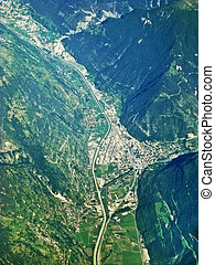 Visp, Switzerland - aerial view