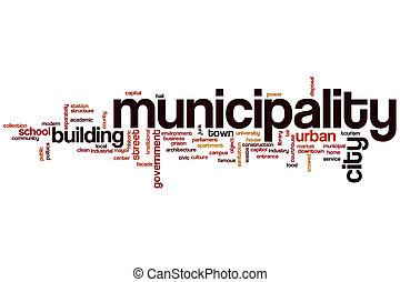 Municipality word cloud