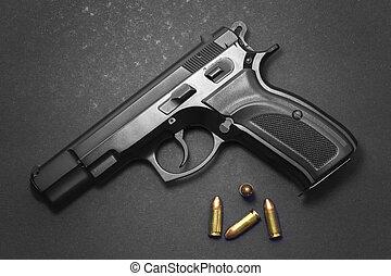 munitions, pistolet