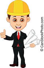 munkás, áll, birtok, építészmérnök