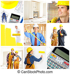 munkás, építők