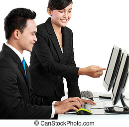 munkás, hivatal, dolgozó, boldog