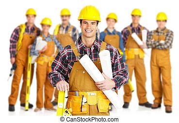 munkás, szállító, emberek