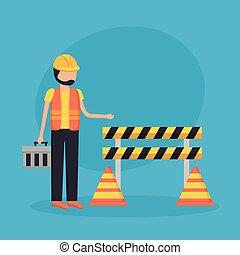 munkás, szerkesztés akadály