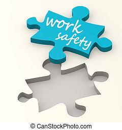 munka, biztonság, képben látható, kék, rejtvény