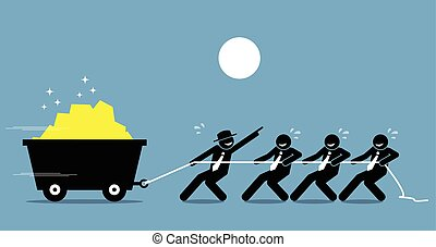 munka, dolgozó, help., munkás, nehéz, együtt, vezető, buzdítás, dolgozók