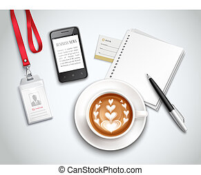 munka felad, cappuccino, gyakorlatias, ábra
