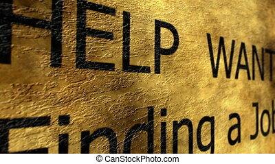 munka, kívánatos, segítség, talál