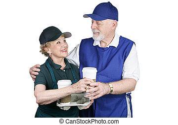 munka megszakadás, kávécserje