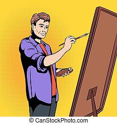 munka, szobafestő, művész