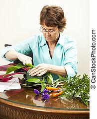 munka, virágárus