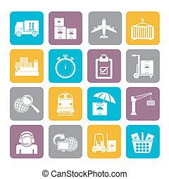 munkaszervezési, rakomány, hajózás, ikonok