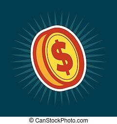 munt, dollar, goud