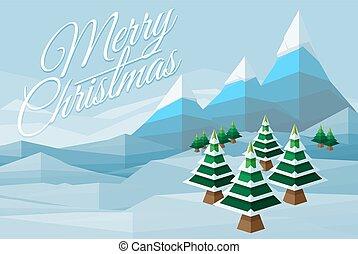 munter, vinter scen, bakgrund, jul