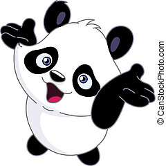 muntre, baby, panda