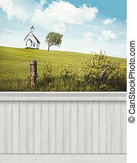 mur, été, background/backdrop