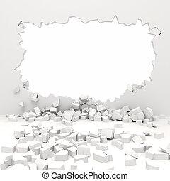 mur, 3d, destruction