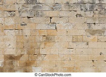 mur, adarce, pierre, blanc, briques, travertin