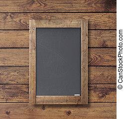 mur, affiche, bois, noir, texture