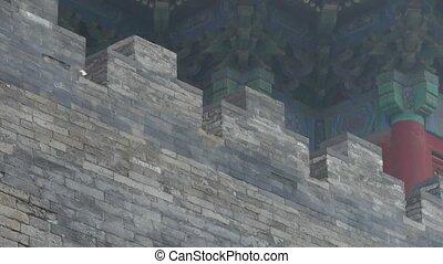 mur, ancien, grand, texture., ville