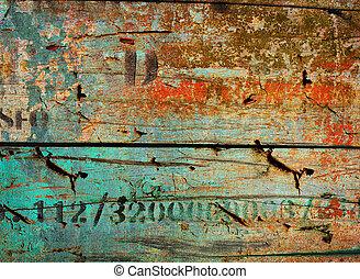 mur, arrière-plan., bois, vieux, texture