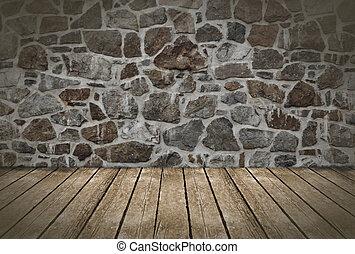 mur, arrière-plan., plancher