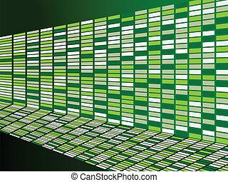 mur, arrière-plan vert