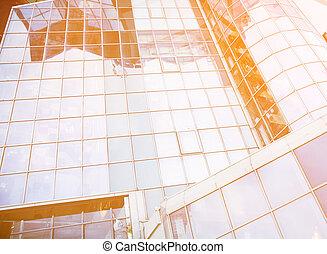 mur, bâtiment, bureau