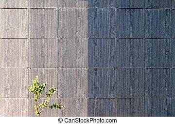 mur, bâtiment, moderne, bureau