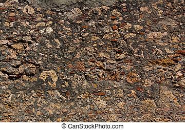 mur, baracoa, texture pierre, cuba