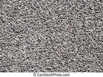 mur, beaucoup, -, grey., nuances, gravier, texture.