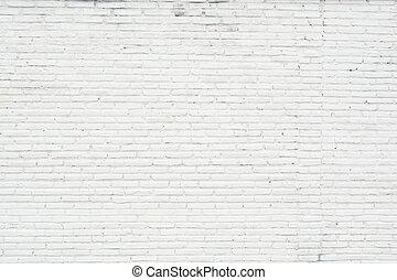 mur, blanc, grunge, brique, fond