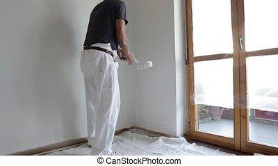 mur, blanc, peinture