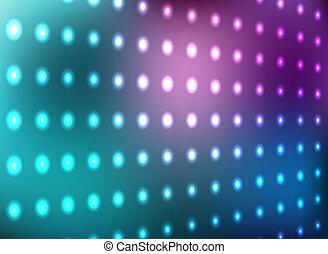 mur bleu, lumière, magenta
