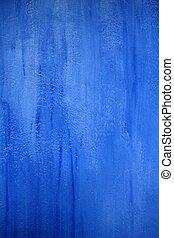 mur bleu, texture, grunge, fond