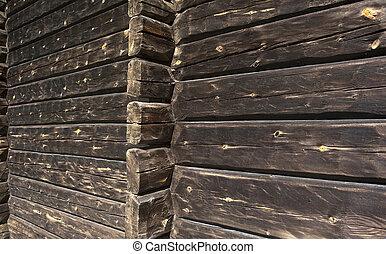 mur, bois construction