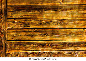 mur, bois, fait, porté