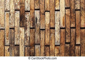 mur bois