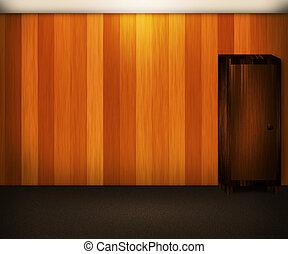 mur bois, intérieur, fond