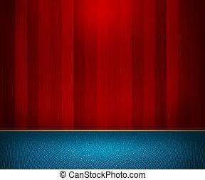 mur bois, intérieur, rouges