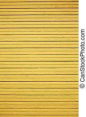 mur, bois, jaune