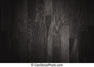 mur, bois, noir, texture, fond
