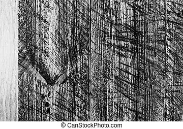 mur, bois, peint, planches, gris