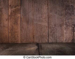 mur bois, plancher