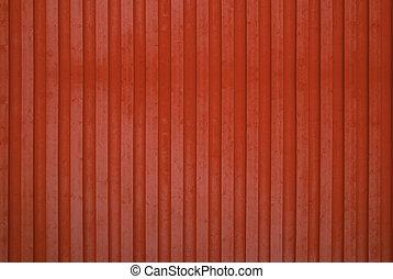mur bois, rouges
