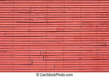 mur, bois, vieux, rouges